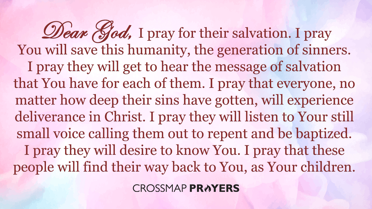 Pray for The World to Get Salvation